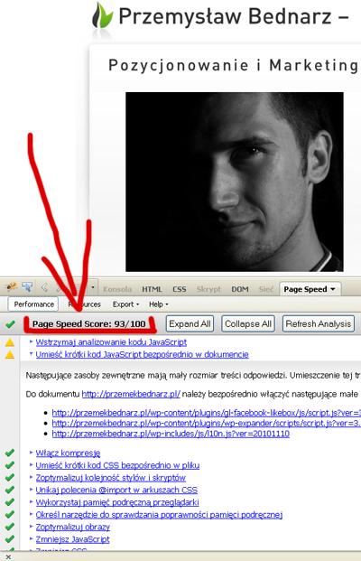 Optymalizacja stron - Page Speed, PrzemekBednarz.pl